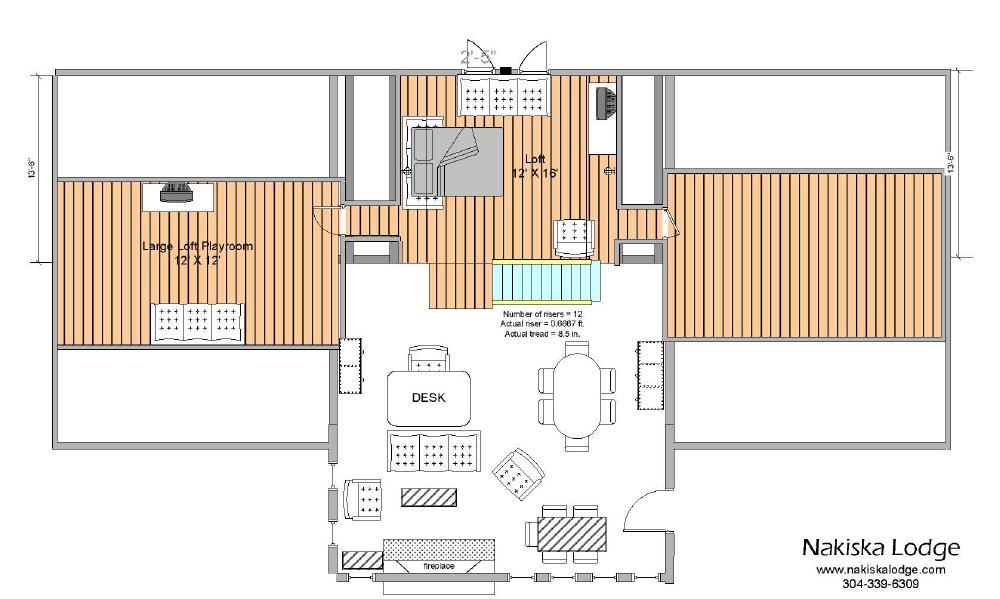 Superior Lodge Home Plans #1: Web%20Loft%20Floor%20Plan.jpg